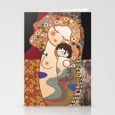 Kokeshi Mother&child  Stationery Cards