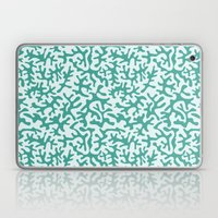 turquoise coral pattern Laptop & iPad Skin