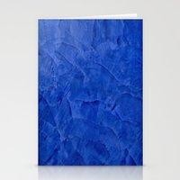 Dark Blue Stucco Stationery Cards
