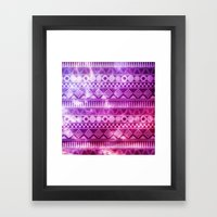Tribal Fuschia.  Framed Art Print