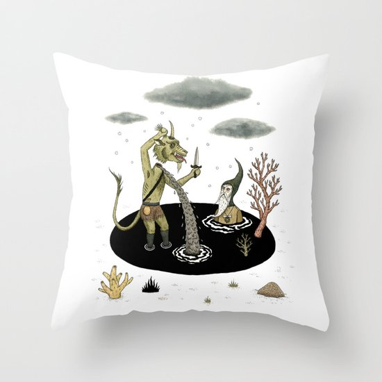 Shifting Tide Pool Throw Pillow