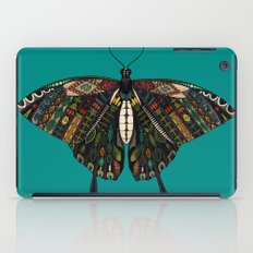 swallowtail butterfly teal iPad Case