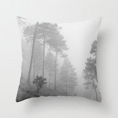 Foggy morning. Wander Throw Pillow
