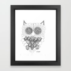 Angelina Bowen Fine Art Print- Owl Framed Art Print