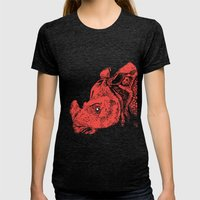 Red Rhino Womens Fitted Tee Tri-Black SMALL