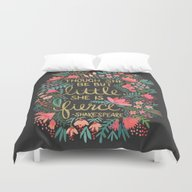 Little & Fierce On Charc… Duvet Cover