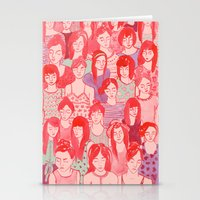 Girl Crowd Stationery Cards