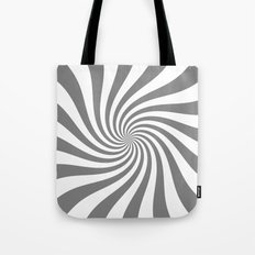 Swirl (Gray/White) Tote Bag