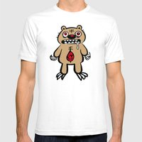 ZOMBEAR Mens Fitted Tee White SMALL