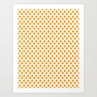 Bazaar 1 Orange Art Print