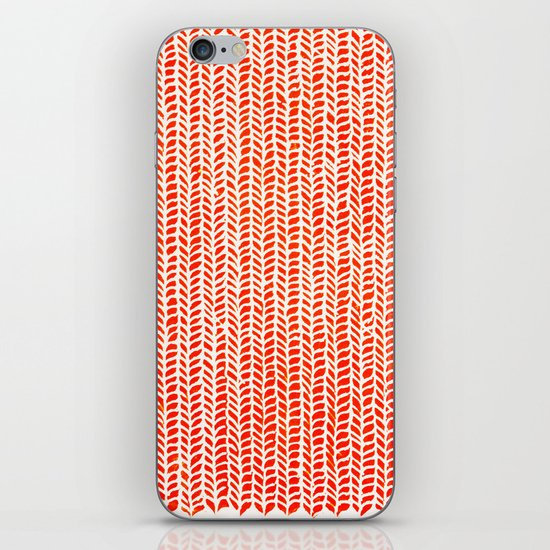 Stockinette Orange iPhone & iPod Skin