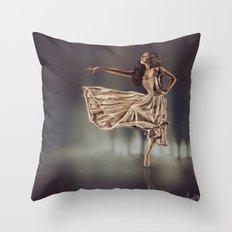 Ballereal Throw Pillow