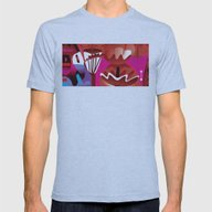 Brain On Love Mens Fitted Tee Athletic Blue SMALL