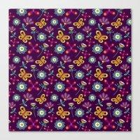 Flower Burst [Aubergine] Canvas Print