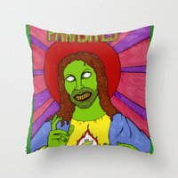 Cash for Jesus US version Throw Pillow