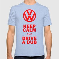 VW Drive a Dub Mens Fitted Tee Tri-Blue SMALL