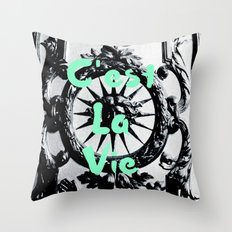 C'est La Vie Throw Pillow