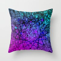 REACH FOR THE STARS Bold… Throw Pillow
