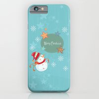 iPhone & iPod Case featuring Merry Christmas by MadTee
