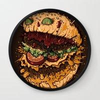 Monster Burger Wall Clock