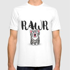 Little Pal, Big Roar Mens Fitted Tee SMALL White