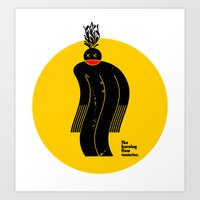 The Burning Flow Monster Art Print