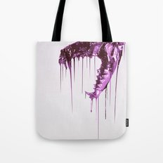 Painted Skull Purple Tote Bag