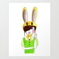 zelda Art Prints featuring Zelda by okayleigh