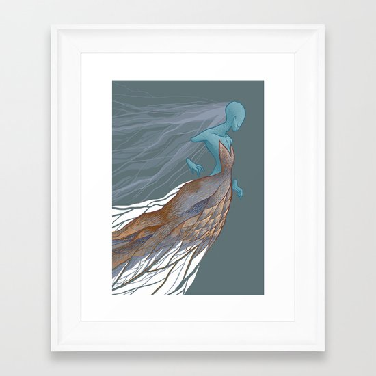 Trapped in Space Framed Art Print