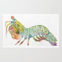 Peacock Mantis Shrimp Rug