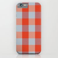 iPhone & iPod Case featuring Pixel Plaid - Autumn Bark by Frostbeard Studio