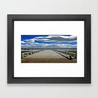 Beyond  the Pier Framed Art Print
