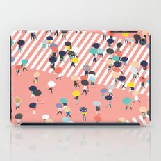 Crossing The Street On a Rainy Day iPad Case