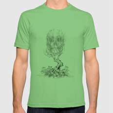 Extinction  Mens Fitted Tee Grass SMALL