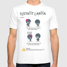 Instant Karma Mens Fitted Tee White SMALL