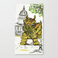 Lion Dance  Canvas Print