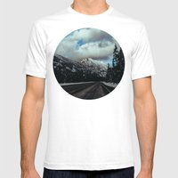 Driving in the North Cascades Mens Fitted Tee White SMALL