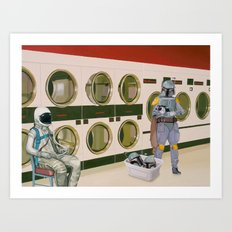 In The Laundromat With B… Art Print