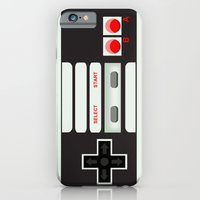 iPhone Cases featuring CMYK Retro Gamer  by AWOwens