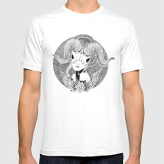 Not a unicorn Mens Fitted Tee SMALL White