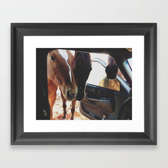 Car Horses Framed Art Print By Kevin Russ Society6