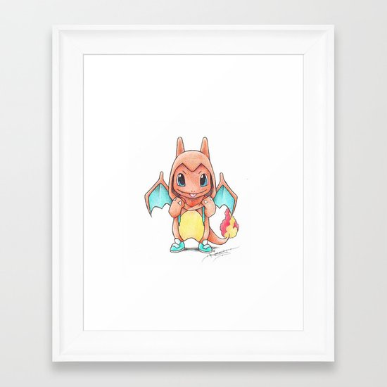 A Burning Passion Framed Art Print