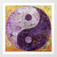 Purple Yin Yang Art Print