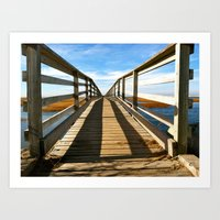 Cross the Bridge Art Print