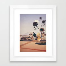 Fear and Loathing on Tatooine Framed Art Print