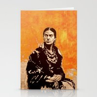 FRIDA KAHLO - the mistress of ARTs - quote Stationery Cards