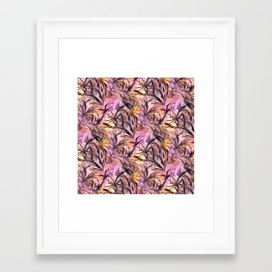 Feathered Pink Framed Art Print