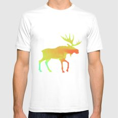 Moose Mens Fitted Tee SMALL White