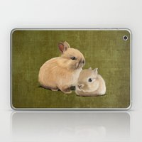 Portrait of two small bunnies Laptop & iPad Skin