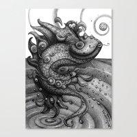 Miss Fish Canvas Print